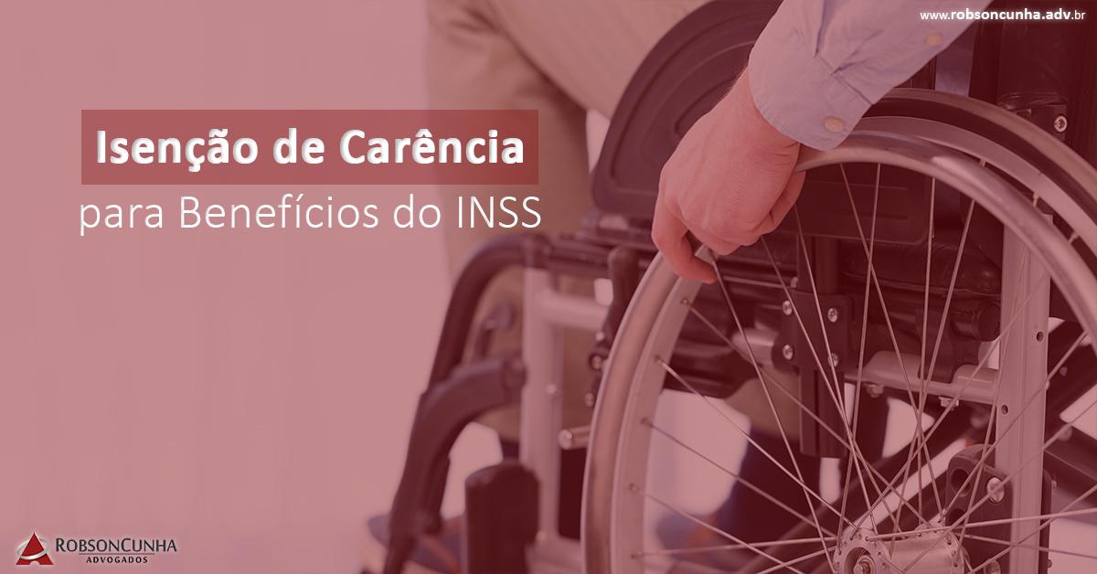 Quais doenças não precisam de carência no INSS para benefício?