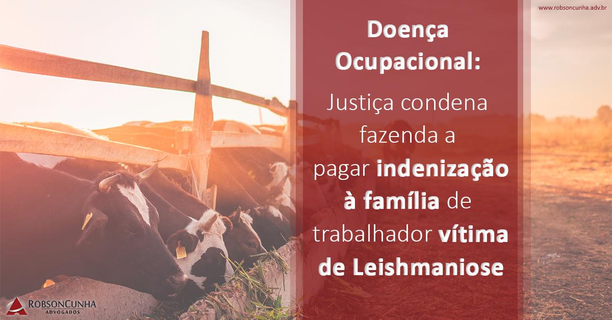 Doença Ocupacional: Justiça condena fazenda a pagar indenização à família de trabalhador vítima de Leishmaniose