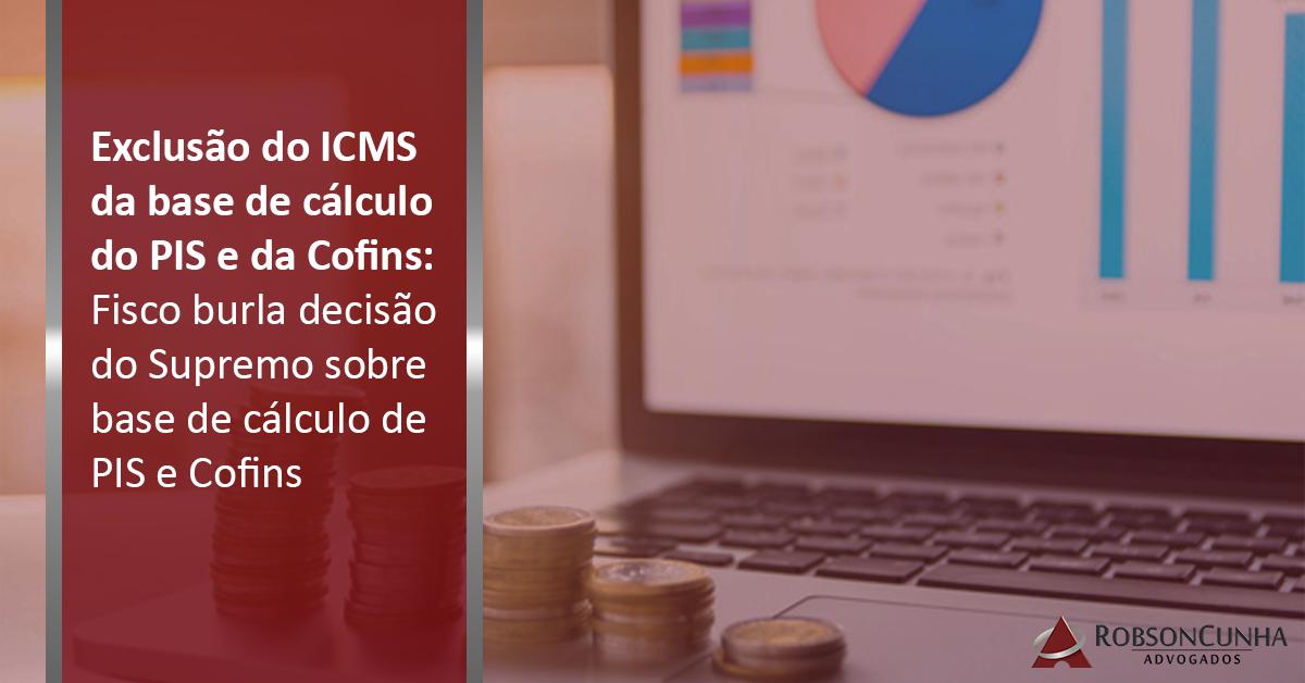 Exclusão do ICMS da base de cálculo do PIS e da Cofins: Fisco burla decisão do Supremo sobre base de cálculo de PIS e Cofins